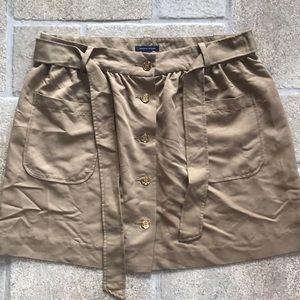 Tommy Hilfiger Tan Button Up skirt